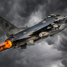 USAF F-16 by Marcin Frąckiewicz - Transportation Airplanes ( f-16, aircraft, fighter )