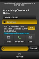 Screenshot of Echo Pages Yellow Pages