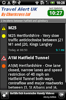 Screenshot of Traffic & Travel Alert UK