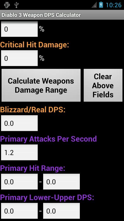 Diablo 3 Weapon DPS Calculator - screenshot