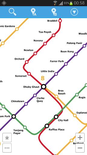 シンガポールの地下鉄地図