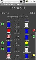 Screenshot of Next Premier League Match