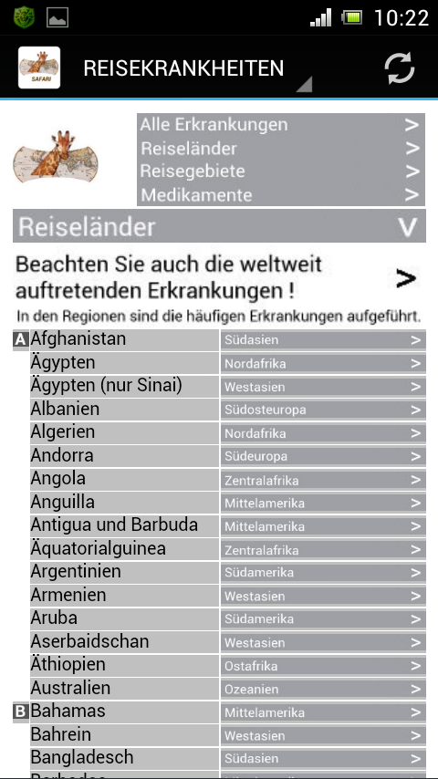 Reisekrankheiten-Safari – Screenshot