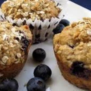 DASH Diet Blueberry Oat Muffins.