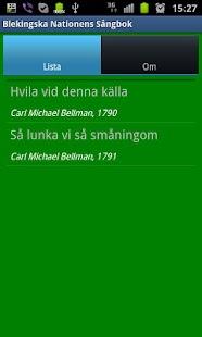 Blekingska Nationens Sångbok- screenshot thumbnail