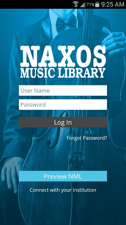 Naxos Music Library- screenshot