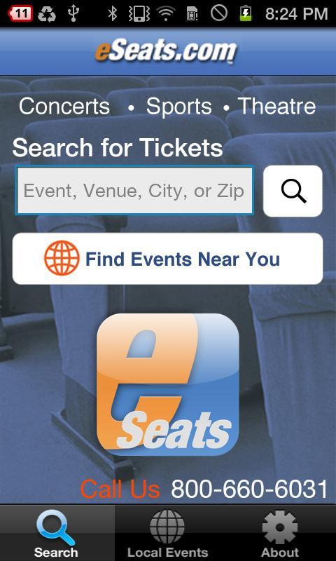 eSeats Tickets App - screenshot