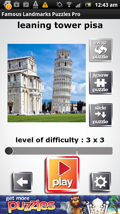 Famous Landmarks Puzzles FREE- screenshot