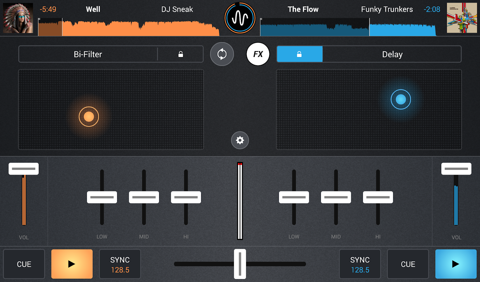 Cross DJ Free - Mix your music - screenshot