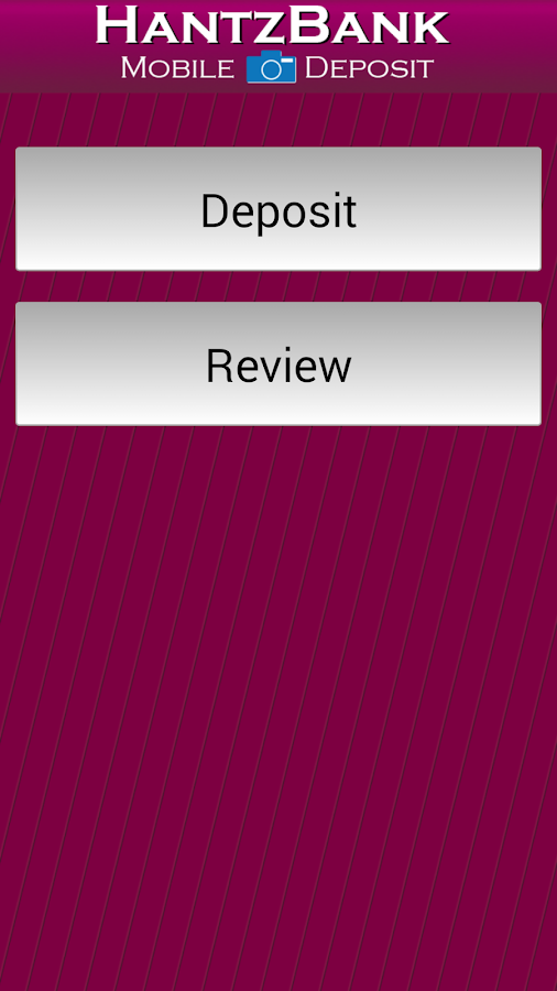 Hantz Bank Mobile Deposit- screenshot