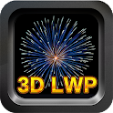 3D Real Fireworks - LWP icon