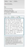 Screenshot of AuBlog Blogger Client
