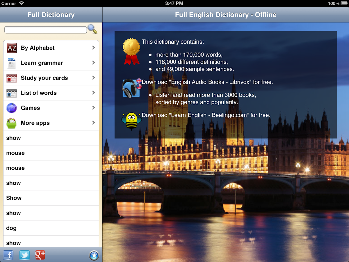 English Dictionary - Premium- screenshot