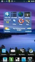 Screenshot of My Fishing Journal Widget