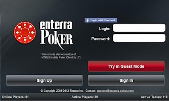 Screenshot of Enterra Poker