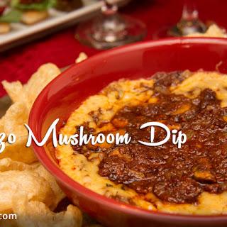 Queso-rizo Mushroom Dip.