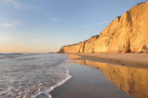 Torrey Pines Beach near San Diego, California.