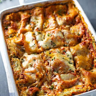 Skinny Spinach Lasagna.