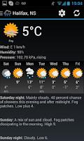 Screenshot of Canadian Weather