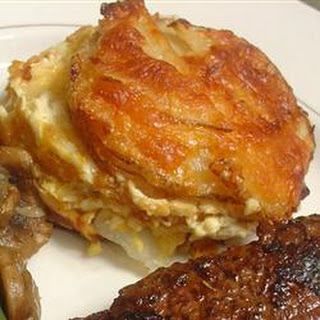 Three-Cheese Garlic Scalloped Potatoes