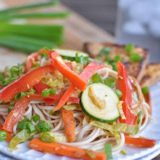 Udon Noodle Stir Fry with Honey Ginger Tofu Recipe