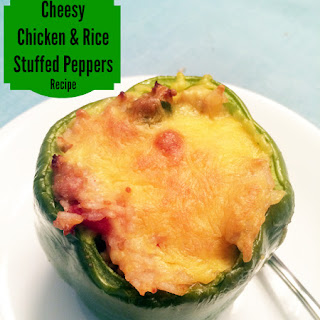 Cheesy Chicken and Rice Stuffed Peppers.