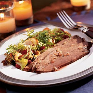 Twice-baked Beef Brisket with Onions
