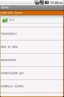 Screenshot of Şiirler
