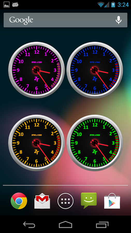 Tachometer Clock Combo Set- screenshot