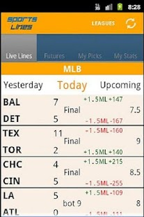 Sports Lines - Scores & Odds - screenshot thumbnail