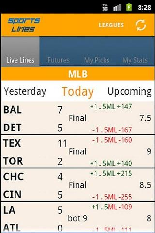 Sports Lines - Scores & Odds - screenshot