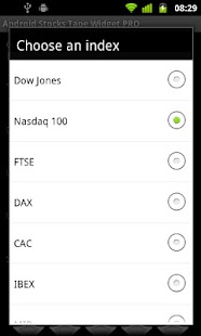 Android Stocks Tape Widget - screenshot thumbnail