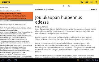 Screenshot of Kaleva