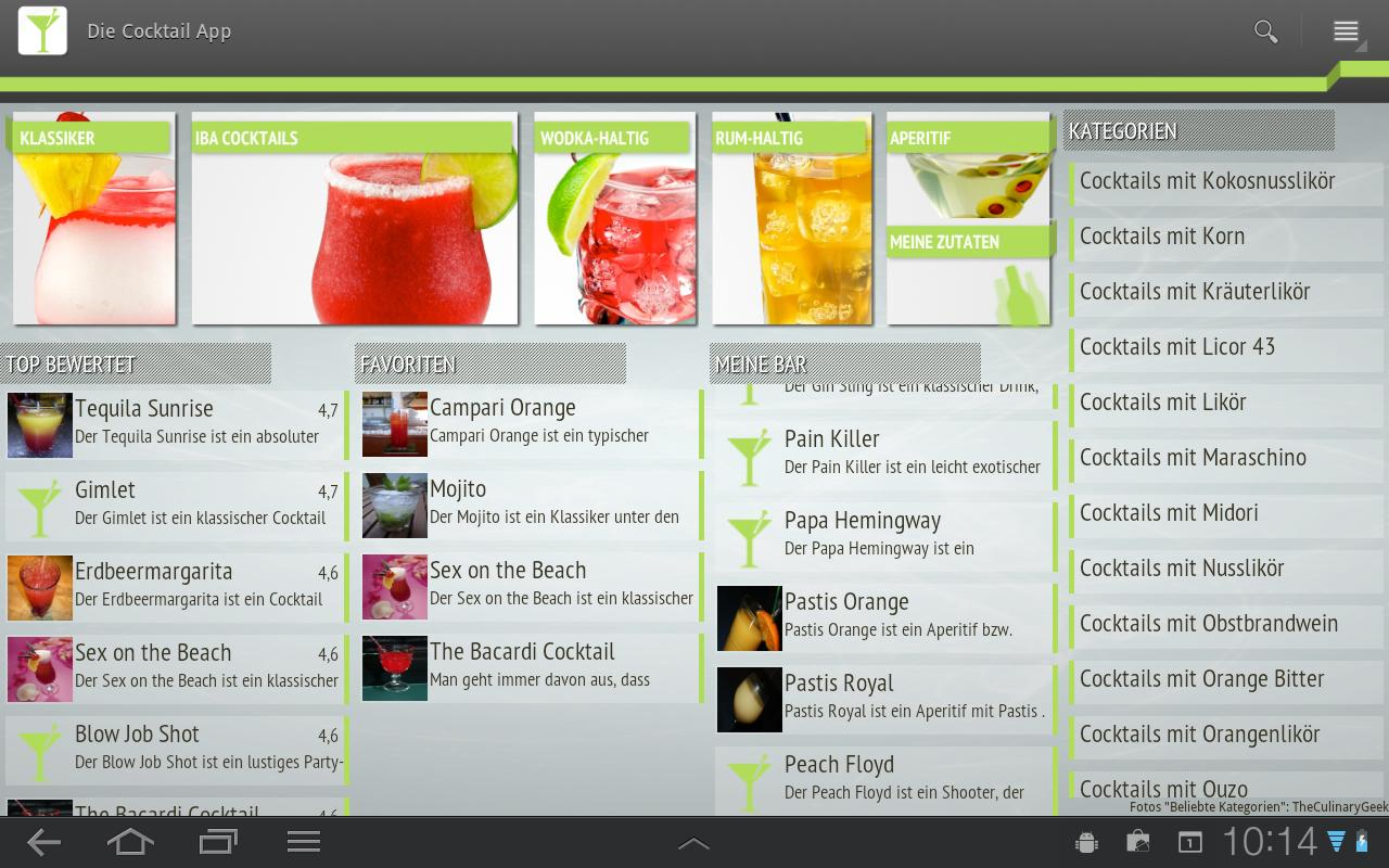 Die Cocktail App Lite - screenshot