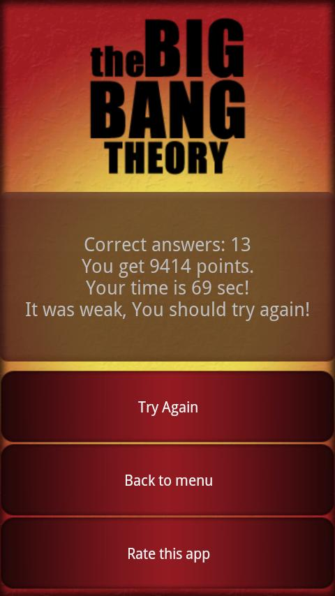 The Big Bang Theory Quiz - screenshot