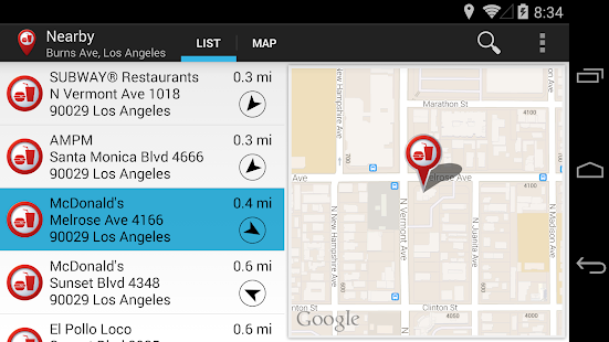 Fast Food Locator / Finder Screenshot 10