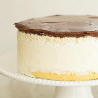 Double Vanilla Ice Cream Cake.