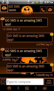GO SMS Pro Halloween theme - screenshot thumbnail