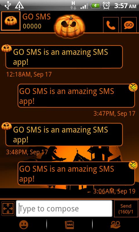 GO SMS Pro Halloween theme - screenshot
