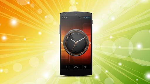 Olive Orange HD Analog Clock