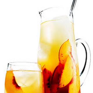 Bourbon and Peach Sweet Tea Punch.