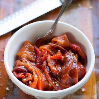 Roasted Red Bell Peppers.