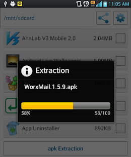App extraction screenshot