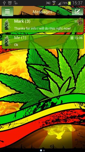 【免費個人化App】GO SMS Pro Theme marijuana Buy-APP點子