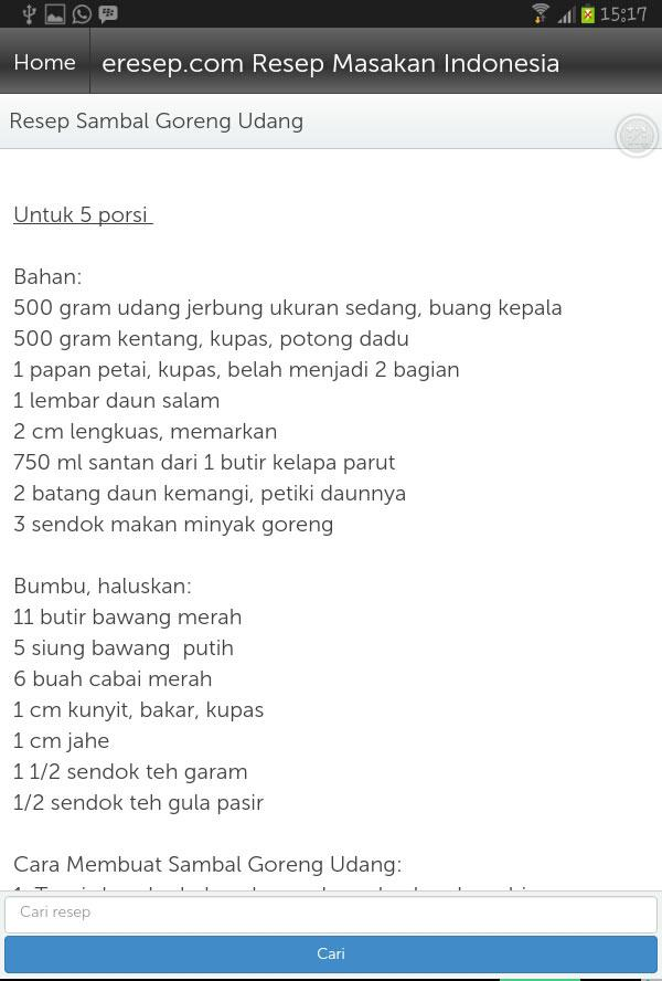 Resep Masakan- screenshot