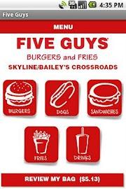 Five Guys Burgers & Fries Screenshot 2