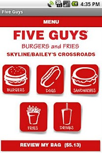 Five Guys Burgers & Fries Screenshot 9