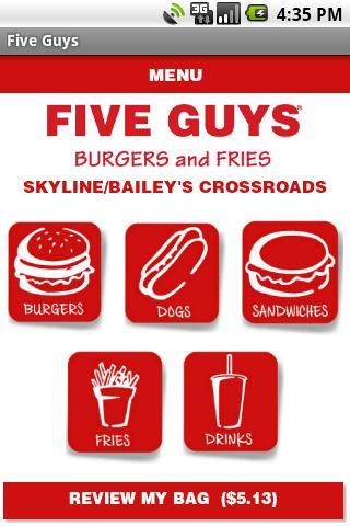 Five Guys Burgers & Fries- screenshot