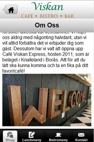 Cafe viskan - screenshot