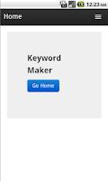 Screenshot of Keyword Maker